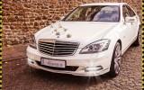 Piękny Perłowo Biały Mercedes S-klasa Do ŚLUBU  Nowy Sącz