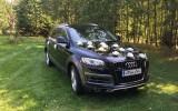 AudiQ7 Luksusowa czarna limuzyna Sierakowice