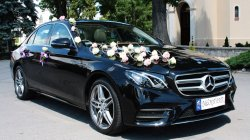 Nowy Mercedes E-klasa 2016r. , Biały AMG Mercedes, Czarne BMW 5 Wlkp. Nowe Skalmierzyce