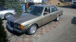 Auto do śluby zabytkowy mercedes 123 Łubiana