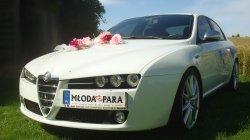 Biała perła afla romeo 159 do ślubu Grajewo