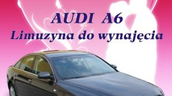 Audi A6 Czarno grafitowa limuzyna do ślubu Łódź