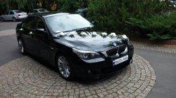 Auto do ślubu na wesele czarne BMW 5 M-pakiet Częstochowa i okolice  Częstochowa