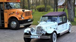 Zabytkowe samochody do ślubu Luxusowe auta na wesele Kabriolet Nestor Białystok