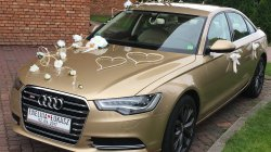 Auto do ślubu Złote Audi A6 Łódź
