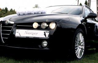Piękna Czarna Alfa Romeo 159 do ślubu Bielsko Biała