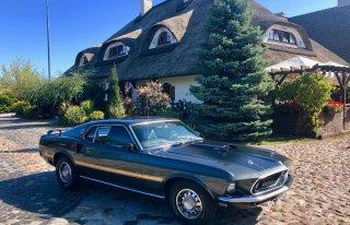Mustang Mach 1 1969 wynajem do ślubu z kierowcą Michałowice