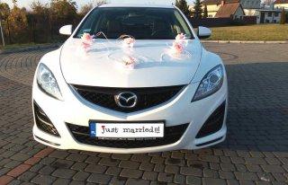 Samochód na wesele w Łomży ! Biała Mazda 6 ! Łomża