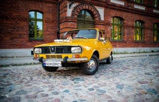 Żótła DACIA 1300 do Ślubu, zabytkowe auto do wynajęcia Łódź