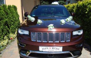 Auto do ślubu, wesele Jeep Grand  Cherokee. Mosina