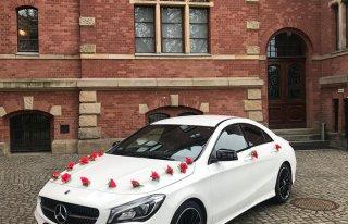 Auto do Ślubu Samochód Na Wesele Mercedes CLA AMG GDAŃSK SOPOT GDYNIA Gdańsk