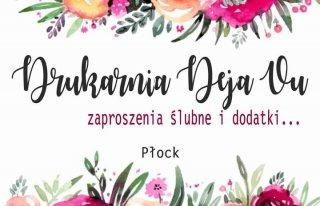 Drukarnia-DejaVu.pl Zaproszenia ślubne Płock