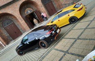 2 Mercedesy CLA 4Matic Black & Yellow. Gdańsk