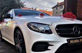Biala limuzyna Mercedes AMG 2018 - auto do slubu 450zl Wrocław