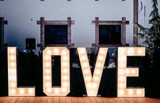 Napis Love na Twoje wesele Biała Podlaska