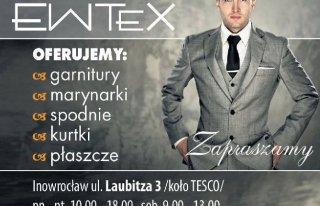 Sklep z garniturami z firmy '' EWTEX '' Inowrocław
