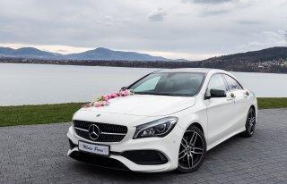 Mercedes CLA do ślubu, Samochód do ślubu Żywiec