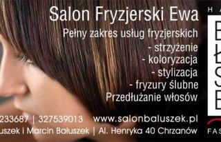 """Salon Fryzjerski """"Ewa"""" Chrzanów"""