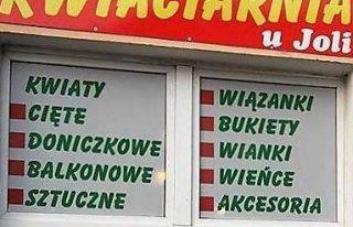 """Kwiaciarnia """"U JOLI"""" """" Trzcińsko-Zdrój"""