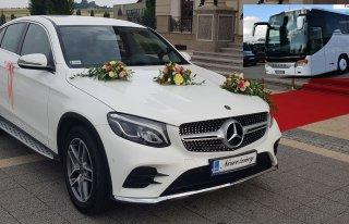 Auto do ślubu MERCEDES Biały GLC Coupe,a także BUS Kraków Kraków