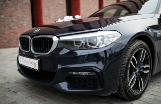 Samochód auto do ślubu na wesele BMW Serii 5 M5 G30 limuzyna ślub Katowice