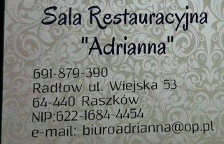 """Sala Restauracyjna """"ADRIANNA"""" Raszków"""