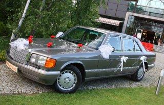 UWAGA! Mercedes S-Klasa W126 wynajem auto limuzyna samochód ślubu SEC Warszawa