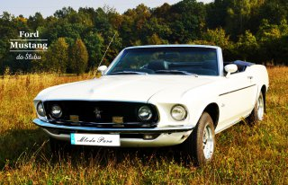 Kultowy Ford Mustang Cabrio 1969r do Ślubu Bochnia
