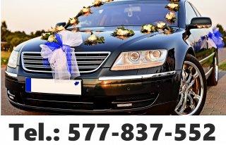 Auto do Ślubu, Limuzyna VW Phaeton. Samochód na wesele, wynajem.  Olsztyn