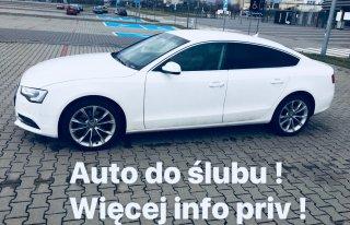 Auto do ślubu ( piekne białe Audi A5)  Rybnik