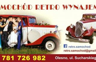 Samochód retro do ślubu Olesno