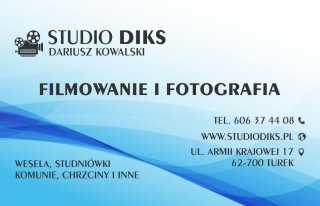 Filmowanie i fotografia Studio DIKS Turek