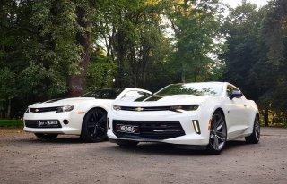 Camaro 2015 -Biała Perła! oraz Camaro 2016 white Gold-prowadź Sam Nowy Sącz