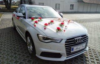 Audi A6 biały do ślubu Kraków