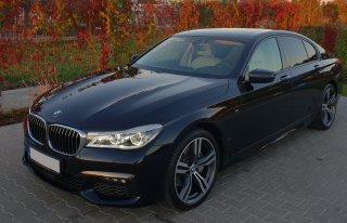 BMW 7 do ślubu z kierowcą Warszawa