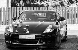 Nissan 370z ślub wynajem Czestochowa