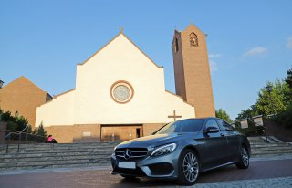 Auto do ślubu, na wesele z kierowcą MERCEDES C200 AMG Warszawa