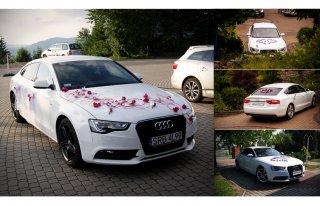Wynajem samochodu auta na ślub wesele Białe AUDI A5 Rybnik i okolice Rybnik