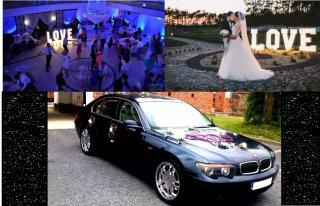 100zl/h WYJĄTKOWE AUTO DO ŚLUBU BMW 7 DODATKOWO NAPIS LOVE OSTROŁĘKA